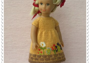Yellow dress for AG mini doll Julia