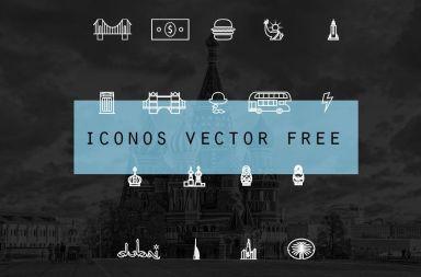 iconos de ciudad vector free