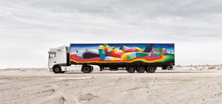 diseño camion okuda truck-art-project