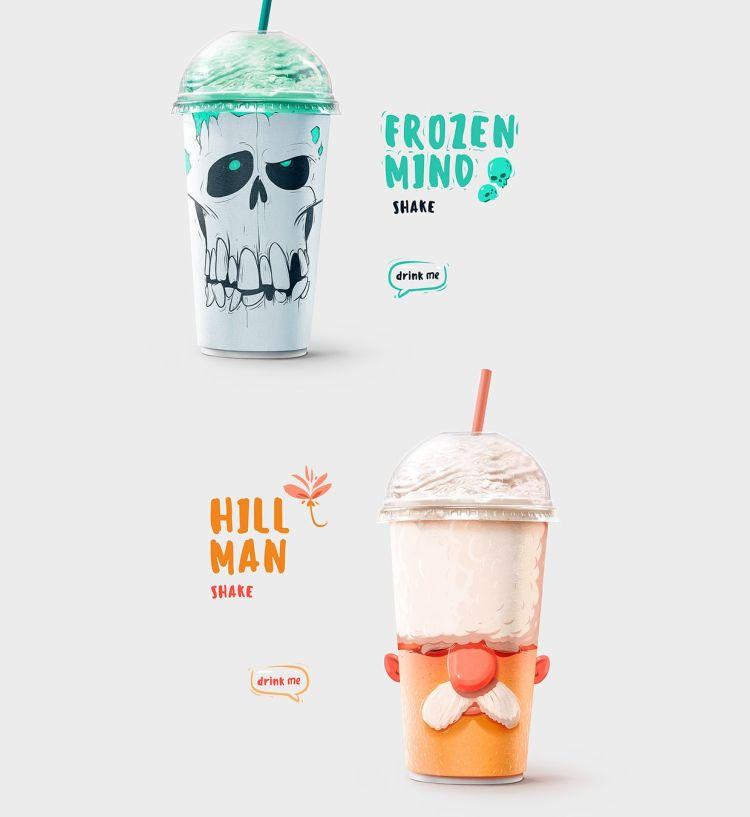 packaging diseño batido