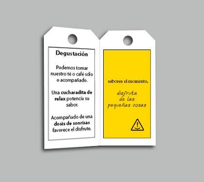 tarjeta taza marketing directo #adiccionpositiva no sonrias concieciacion