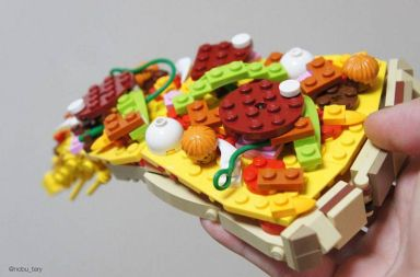 pizza comida lego japon