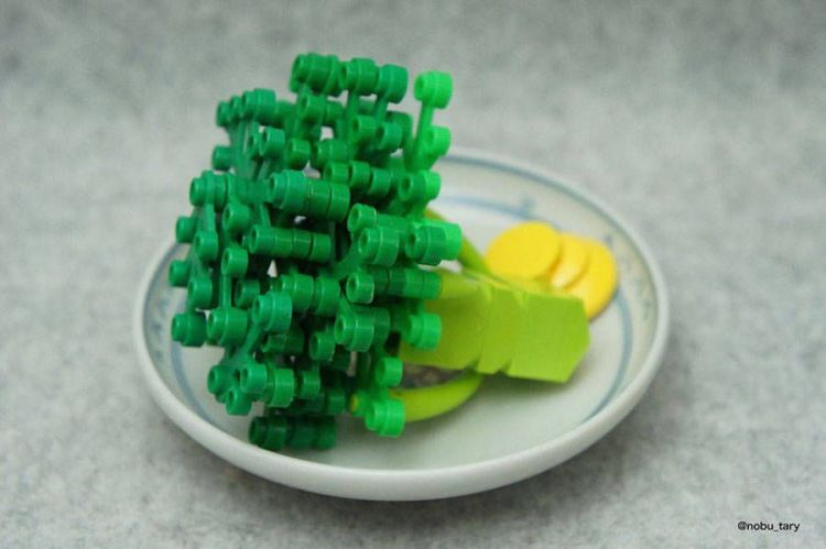 brocoli comida lego japon