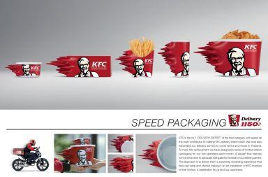 el packaging veloz de kfc
