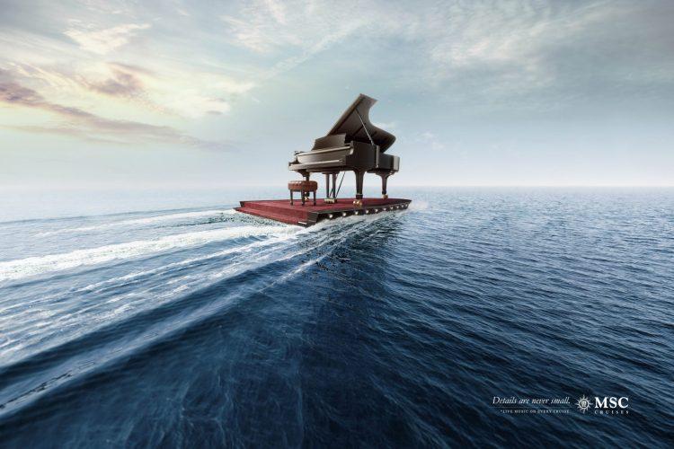 campaña creatividad msc cruceros