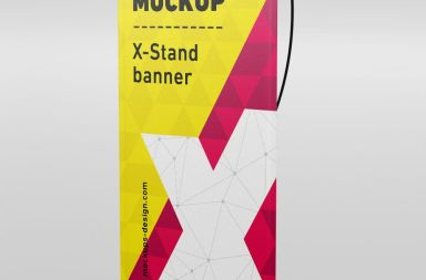 X-Stand Banner mockup free