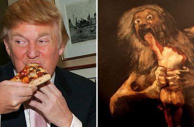 google art parecido trump y saturno devorando a su hijo de goya