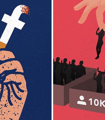 22 ilustraciones que denuncian la adicción a las redes sociales