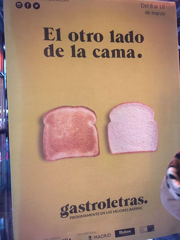 carteles minimalistas gastroletras