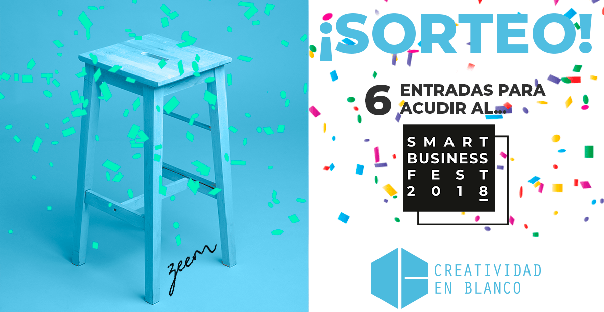 sorteo entradas smart business fest creatividad en blanco