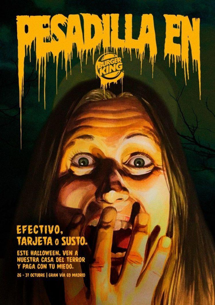 halloween burguer king publicidad pasaje terror