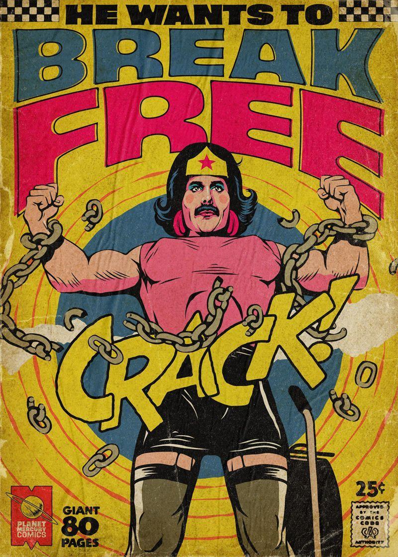Freddie Mercury transforma las portadas de los cómics