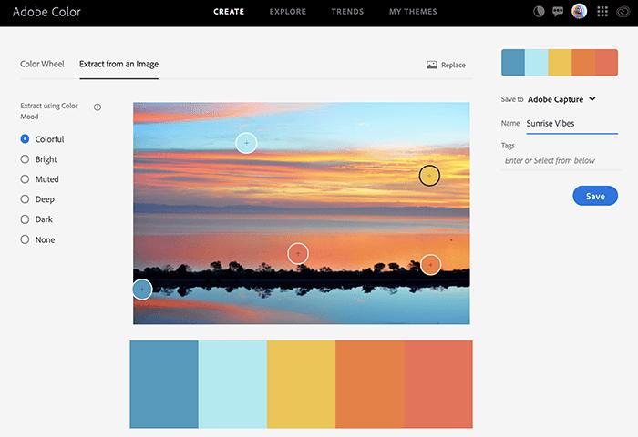 novedades adobe color extrayendo de una imagen