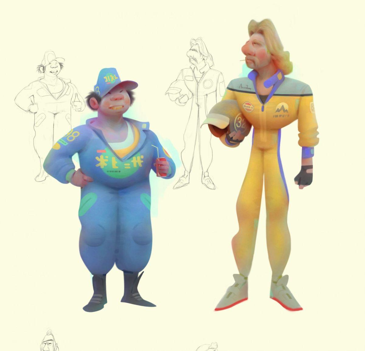 El diseño de personajes de Aleksey Baydakov