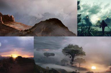 matte painting escenarios películas