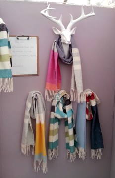A GREAT way to display scarves