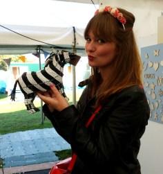 zebra kiss at handmade fair
