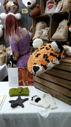 knitted tiger rug