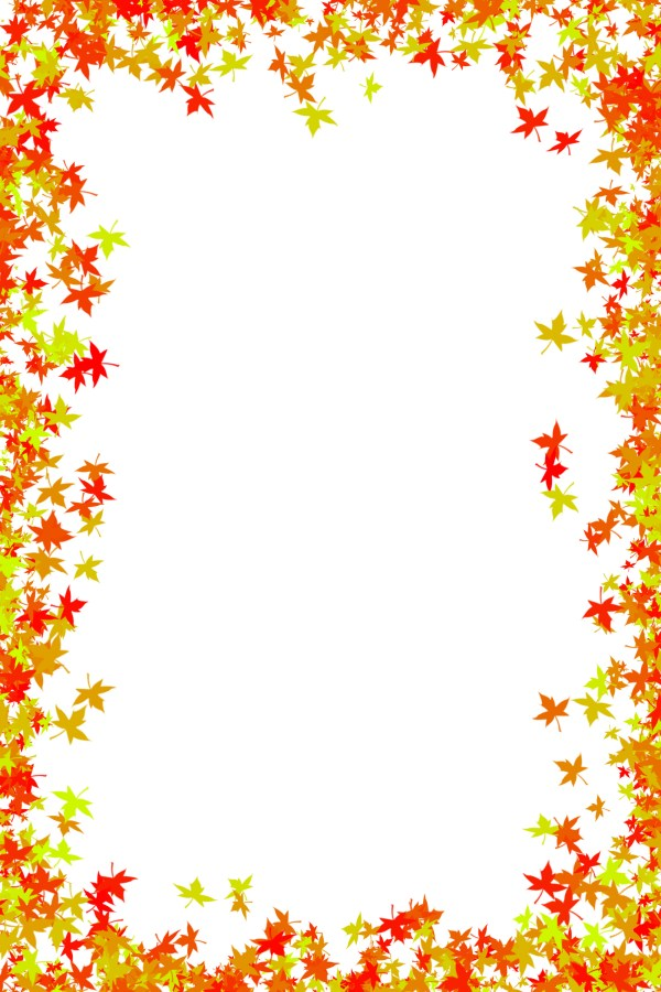 maple leaves autumn frame free