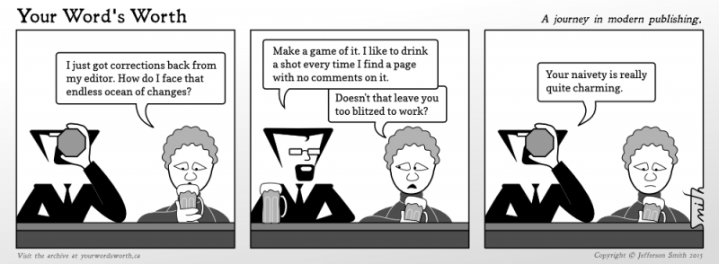 An editorial drinking game