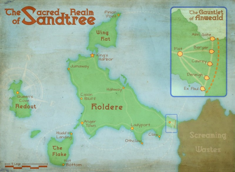 Map of the Sacred Realm of Sandtree