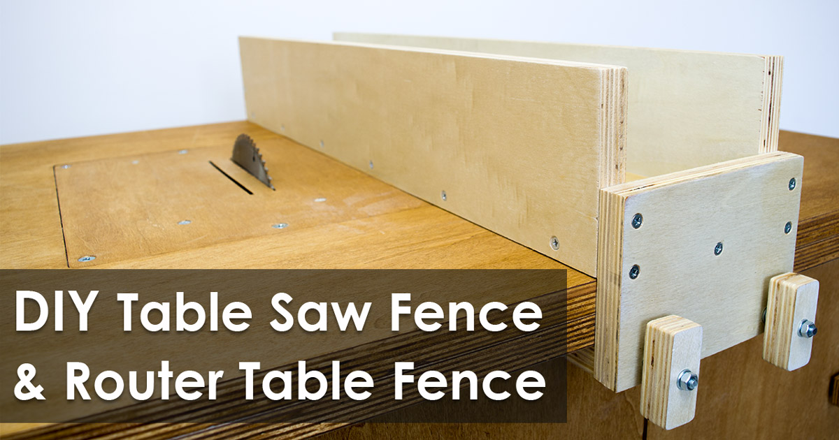 Homemade Table Saw Fence Youtube