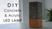 DIY Concrete and Acrylic LED Lamp with a Wooden Base ...