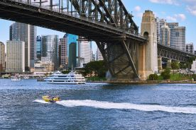 Launch event attendees were offered the chance of riding in a Sydney Harbour jet boat. I declined as I needed to concentrate on photographing within the event venue, but highly recommend trying out jet boating if you ever come to Sydney, especially when it is sunny and warm.