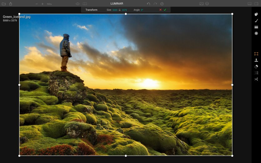 Luminar has workspaces aplenty, from this simplified one for beginners...