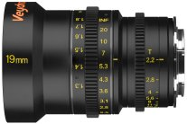 Veydra 19mm mini prime lens with metric scale, for Super 16/Micro Four Thirds and Super 35/APS-C.