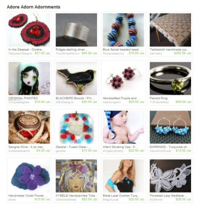 Etsy's Treasury East: New Feature
