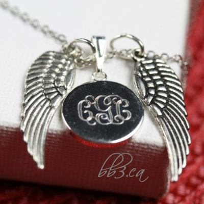 """Wings"" Tribute piece: Personalized Memorial Necklace"