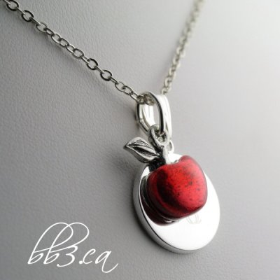 You are the Apple of My Eye Necklace and Teacher's Gift