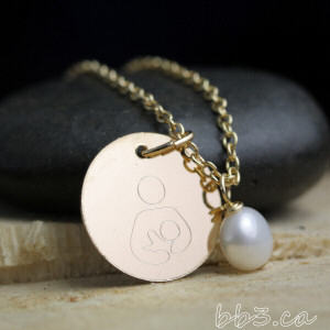 Breastfeeding symbol necklace in 14kt gold-filled: all the benefits of gold without the hefty price tag