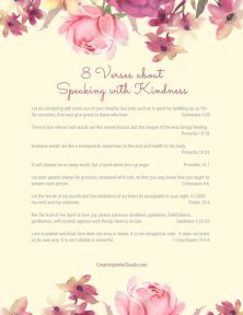 speaking with kindness verses