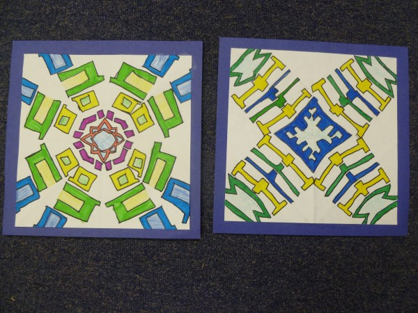 Radial Symmetry Name Art Project