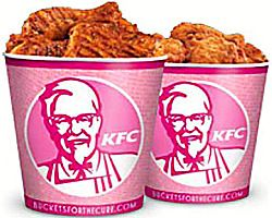 Pink KFC-KOMEN buckets