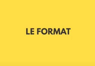 """Words """"Le format"""" - fond jaune"""