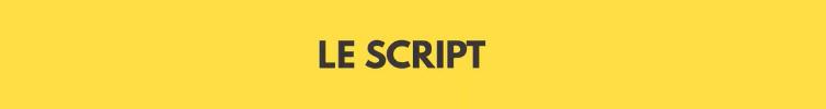 """Text """"Le Script"""" sur fond jaune"""