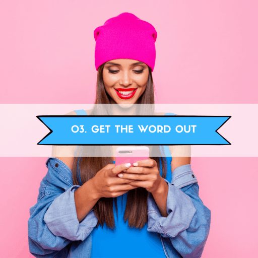 get the word out about your blog