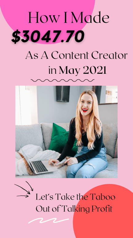 income report for May 2021 as a blogger and content creator