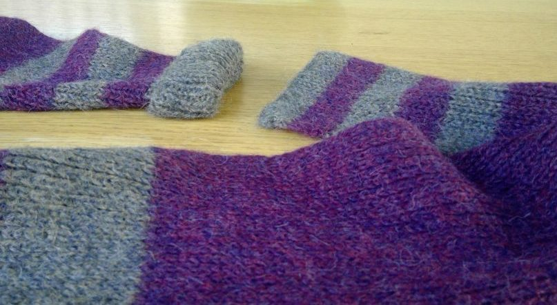 adjustable infinity scarf before the ends are connected