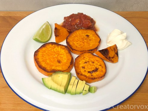 sweet potato with mix-ins for southwestern skillet