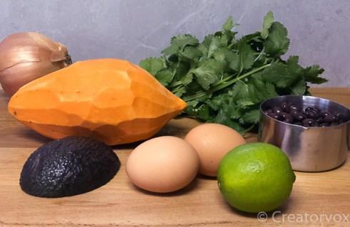 Southwestern Sweet Potato Skillets ingredients