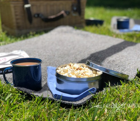 personal picnic blanket with waterproof backing