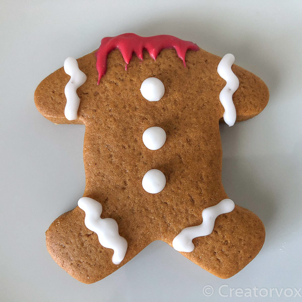 headless spooky gingerbread man
