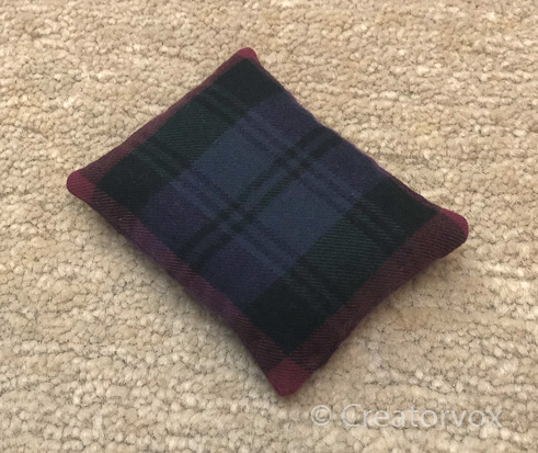 plaid pocket hand warmers finished