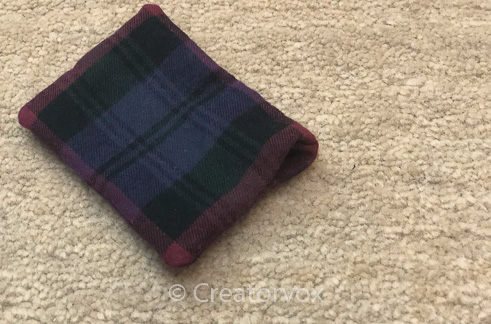 plaid pocket hand warmers ready for rice filling