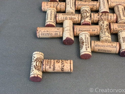 wine cork trivet project second cork glued