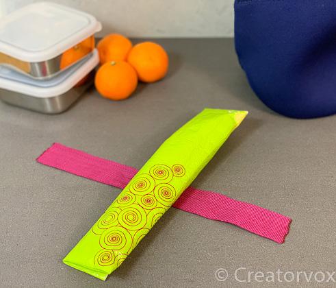 folding travel cutlery holder